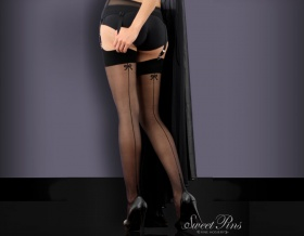Sweet Pins Seamed Stockings (Black)